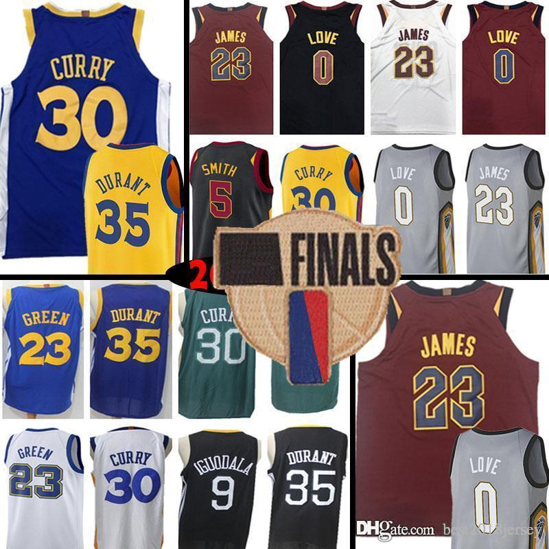 721f107de 2018 Golden State 30 Stephen Curry Warriors 35 Kevin Durant 0 Kevin Love 5  JR Smith Jersey 23 Draymond Green Cleveland 11 Klay Thompson Cavaliers From  ...