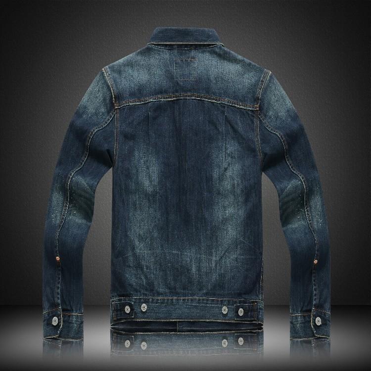5d0ac668fb5 Trend Fashion Man Cowboy Jacket Retro Do Used Embroidery Nostalgia ...