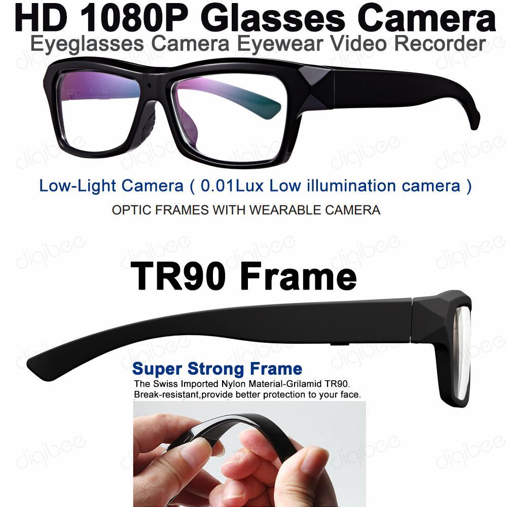 f715494001 Compre TR90 Gafas De Montura Óptica Cámara Con Poca Luz HD 1080P 32GB Gafas  Grabadora De Video Con Cable OTG Para Reproducción En Dispositivos Android  4.0+ ...