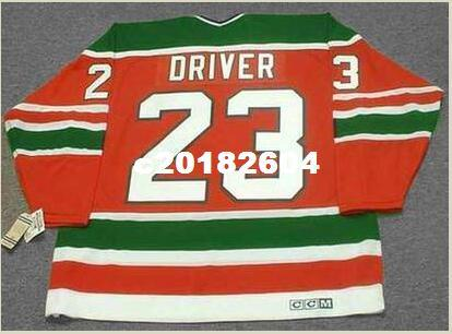 size 40 14df2 9d945 Men #23 BRUCE DRIVER New Jersey Devils 1988 CCM Vintage RETRO Hockey Jersey  or custom any name or number retro Jersey