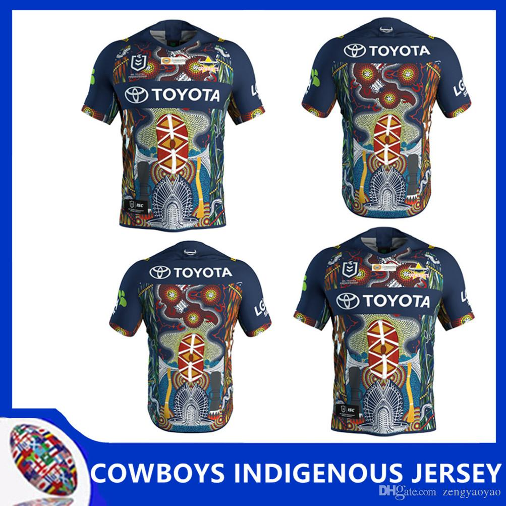 brand new 1f946 63b6e 2019 NRL RUGBY JERSEY NORTH QUEENSLAND COWBOYS 2019 JERSEY INDÍGENA NRL  Captain America Marvel Ltd Edition Rugby Shirt 2017 Cowboys rugby
