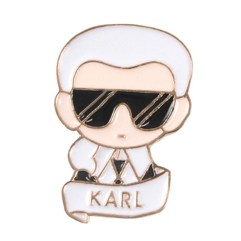 Figure Brooch Karl Famous Fashion Man Backpack Icons Badge Creative Casual Jean Decoration Ornament Gifts Pins Jewelry Decor