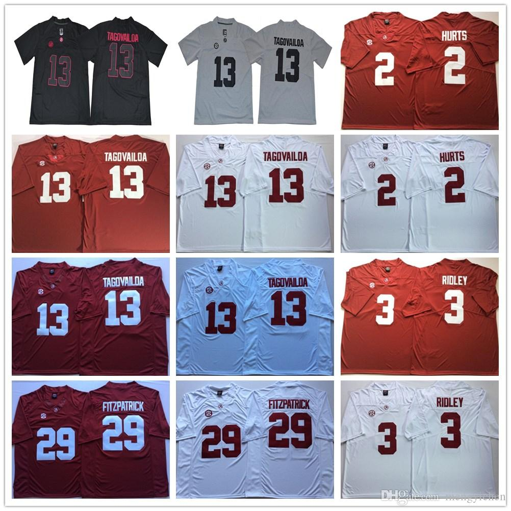 f60a67238 NCAA Alabama Crimson Tide College 13 Tua Tagovailoa Jerseys Football ...