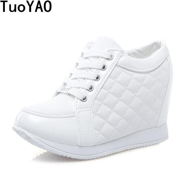 37b959011608 Shoes Hot Sales New 2019 Summer Black White Hidden Wedge Heels Casual  Fashion Women S Elevator High Heels Boots For Women Pumps White Mountain  Shoes Scholl ...