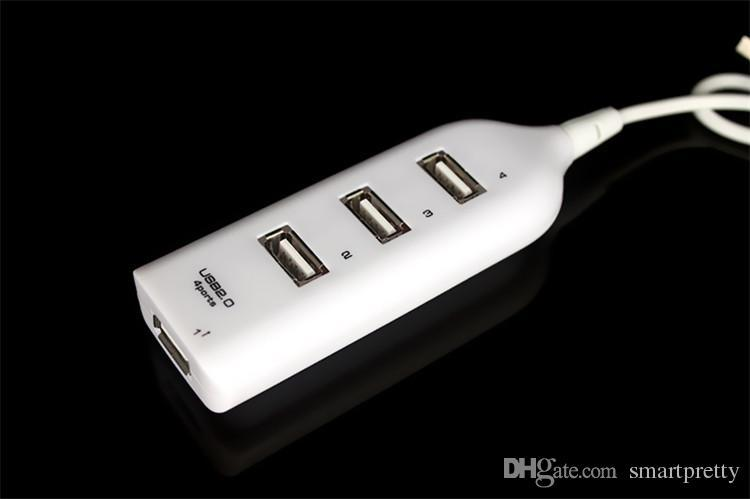 High Speed 4 Port Mini USB 2.0 HUB For Laptop PC Computer Peripherals accessories USB Hubs charger cable Adapter with retail package