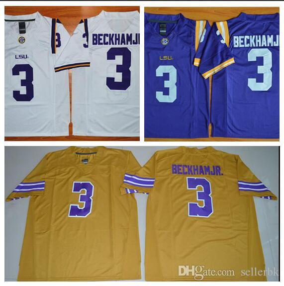 best loved a2b94 74b37 Mens LSU Tigers ODELL BECKHAM JR Stitched Name&Number American College  Football Jersey Size S-3XL