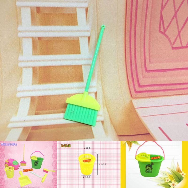 Cleaner Kit Mobili la casa Arredamento di pulizia i bambini Casa set di mobili giocattoli divertenti Aspirapolvere scopa del Mop Set