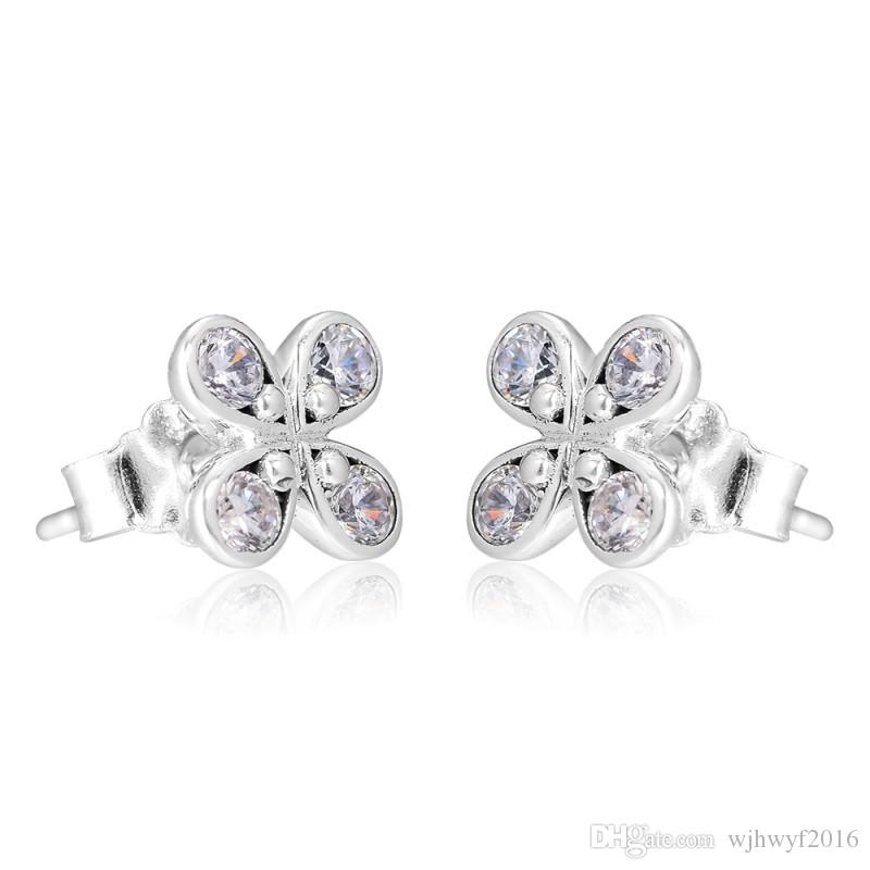 52d909b19 2019 New 100% Authentic 925 Sterling Silver Earring Dazzling Good ...