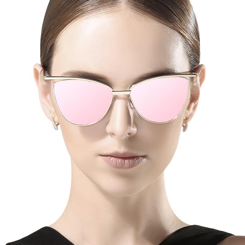d5f86071945 Classic Retro Sunglasses Retro Female Summer Style Fashion Trend Reflective  Polarized Frog Mirror Metal Shiny Sun Glasses 2018