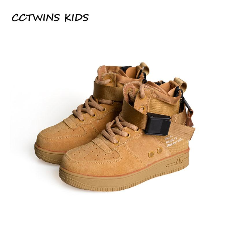 756a9ab7e80 CCTWINS KIDS 2018 Autumn Children Real Leather Trainer Baby Girl ...