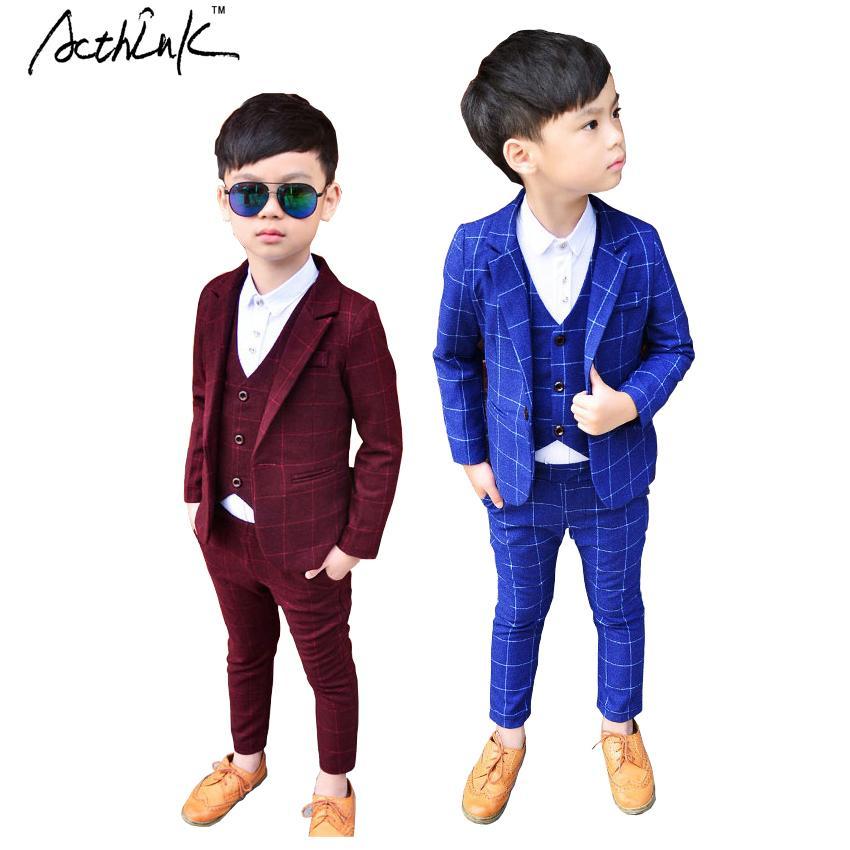7f0c92dfe 2019 Acthink New Plaid Wedding Blazer Brand Flower Boys Formal ...