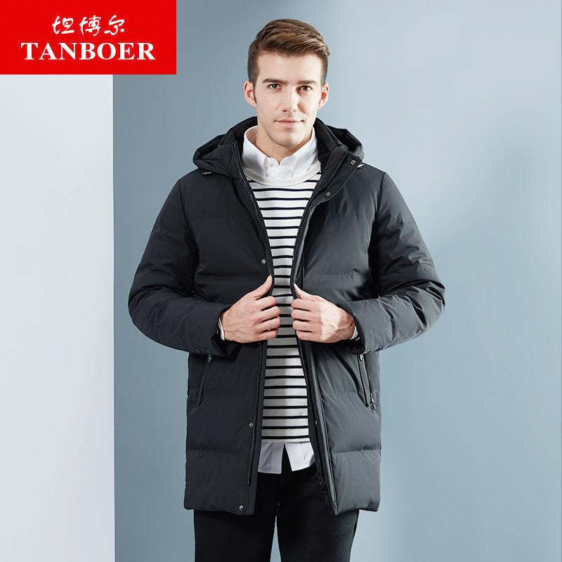 ff223ccb8e Acheter TANBOER Manteau D'hiver En Duvet Pour Homme En Polyester Épais,  Veste En Duvet De Canard Gris, Veste TA18681 De $223.76 Du Ppkk | DHgate.Com