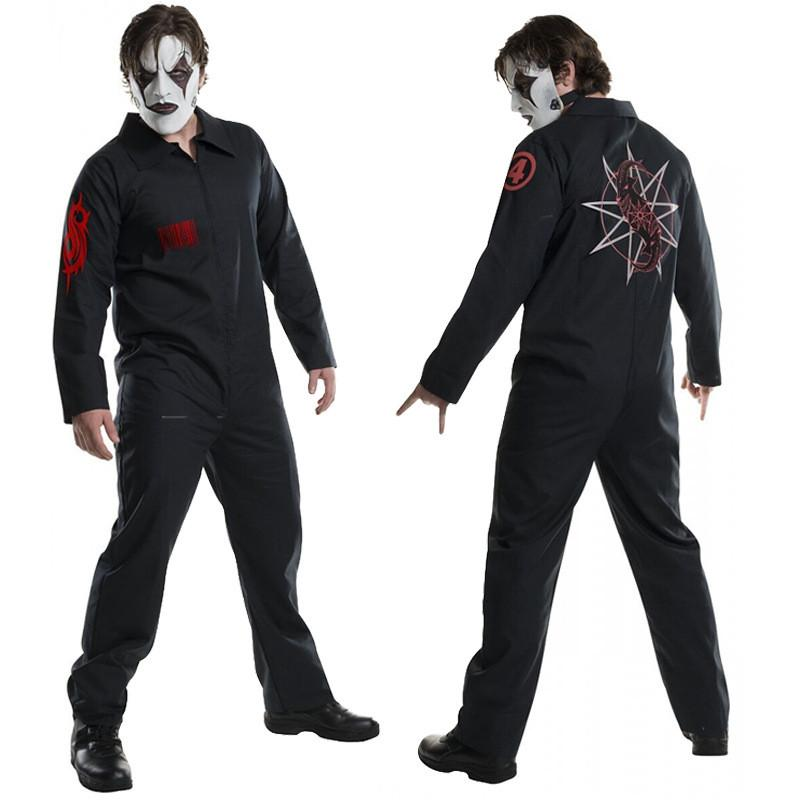 SlipKnot stampato Mens Cosplay Costume Halloween Hiphop Mens Tute Tema Costume maschile Apparel