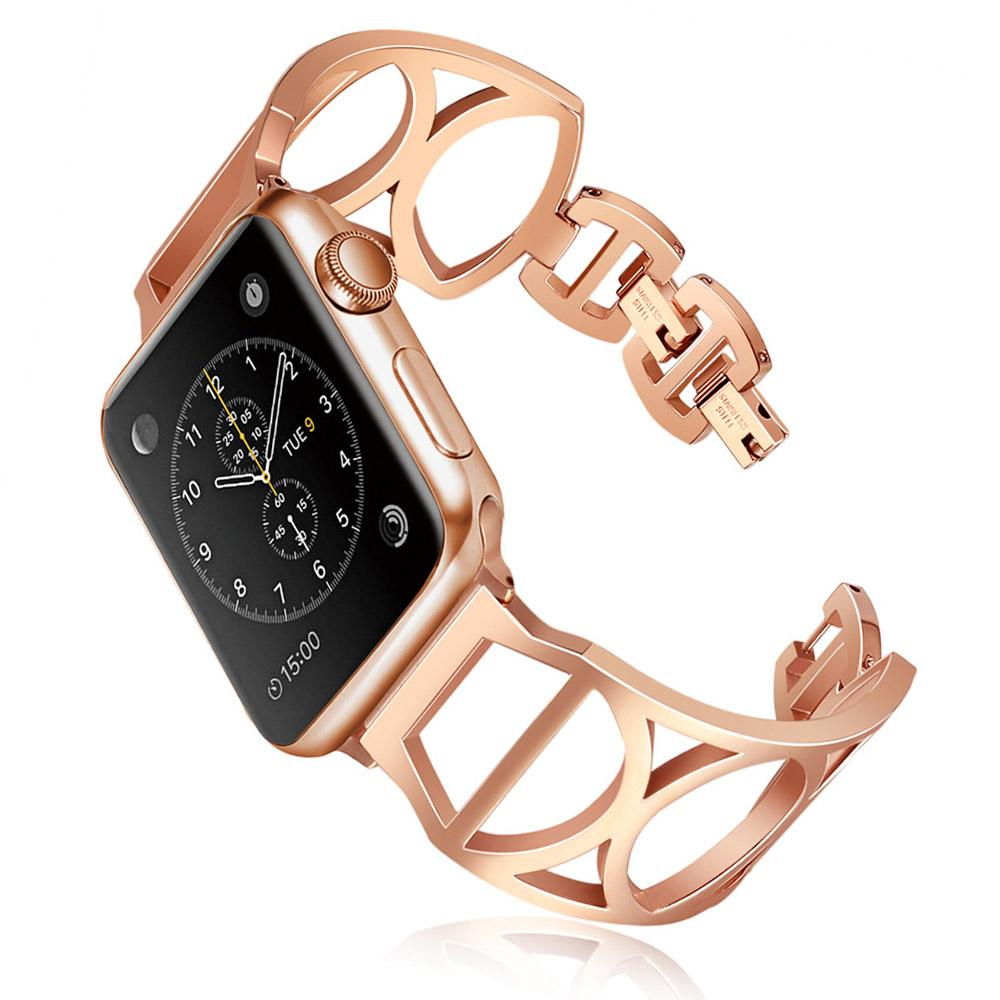 acb71ada5 Luxury Women/Girls Bracelet For Apple Watch Band Series 4 3 2 1 High  Quality Metal Link Strap For Apple IWatch 38/40/42/44MM Speidel Watch Bands  Watch Band ...