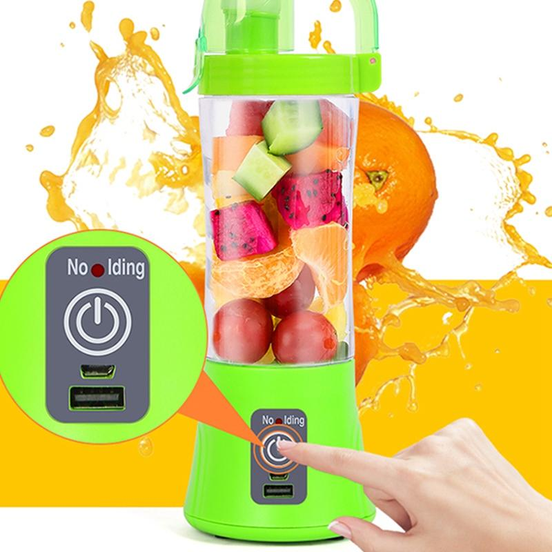2 Blades Portable Juicer Juice Smoothie Smothie Maker Electric Rechargable Blender Extractor Machine Fruit Vegetable Kitchen Dining Cut Tool