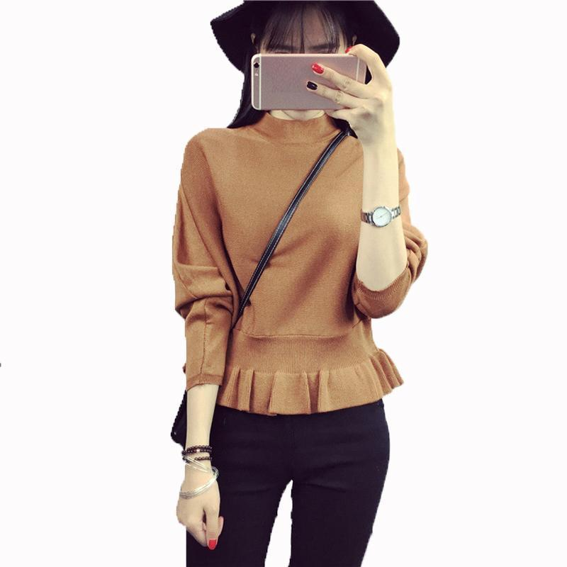 2019 Fashion Women€s Sweaters Turtleneck Vogue Nice Women Casual Batwing  Winter Sweater Pullover Short Design Korean Style Ruffles T From  Tallahassed9 59b24d967