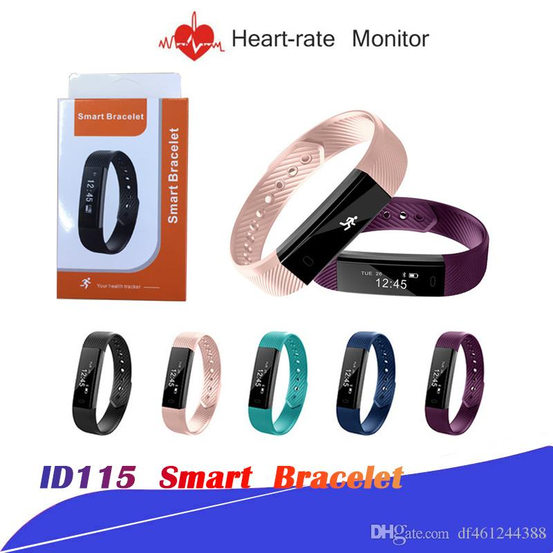 ID115 SE09 Smart Band wristband Fitness Activity Tracker Bluetooth 4 0  Smartband Sport Bracelet for IOS & Android Veryfit Waterproof
