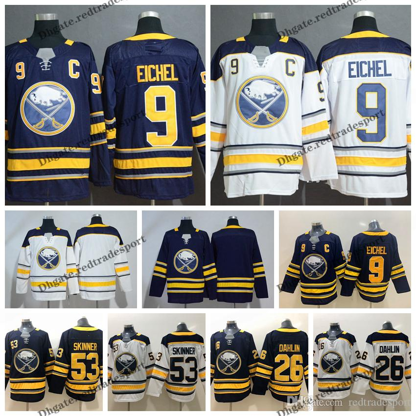 new products d5627 a22e5 2019 Buffalo Sabres Hockey Jerseys 9 Jack Eichel 26 Rasmus Dahlin 53 Jeff  Skinner Navy Blue Mens Winter Classic Stitched Jerseys C Patch