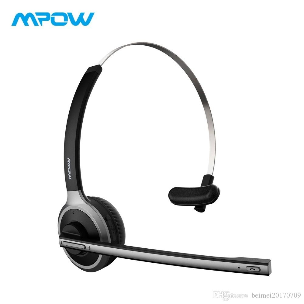 d08e35d7b7e Mpow M5 Bluetooth 4.1 Headset Wireless Over Head Noise Canceling Headphones  With Crystal Clear Microphone For Trucker Driver Best Wireless Earbuds  Bluetooth ...
