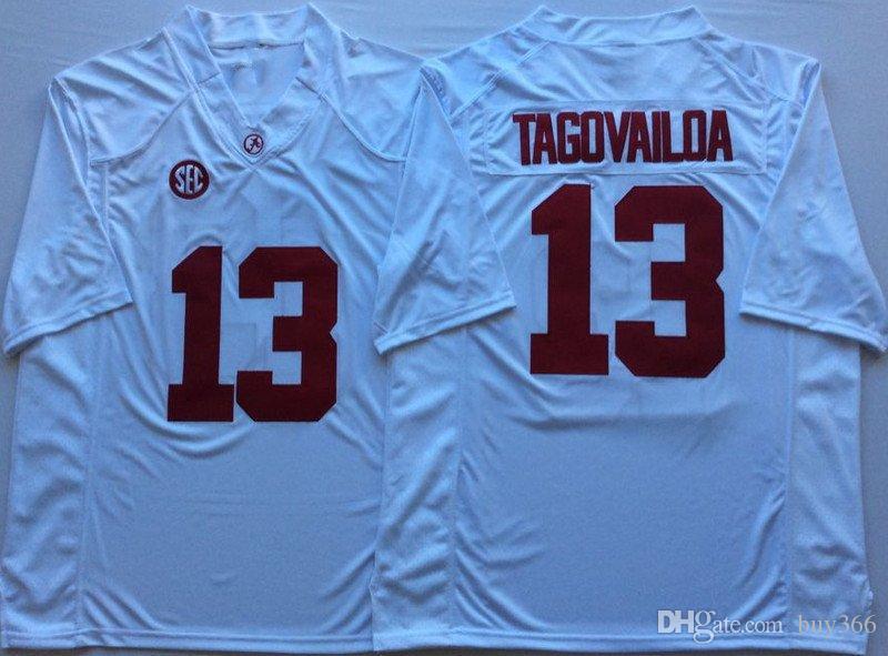 NCAA Alabama Crimson Tide  13 Tua Tagovailoa Championship 2 Jalen ... f59d63779