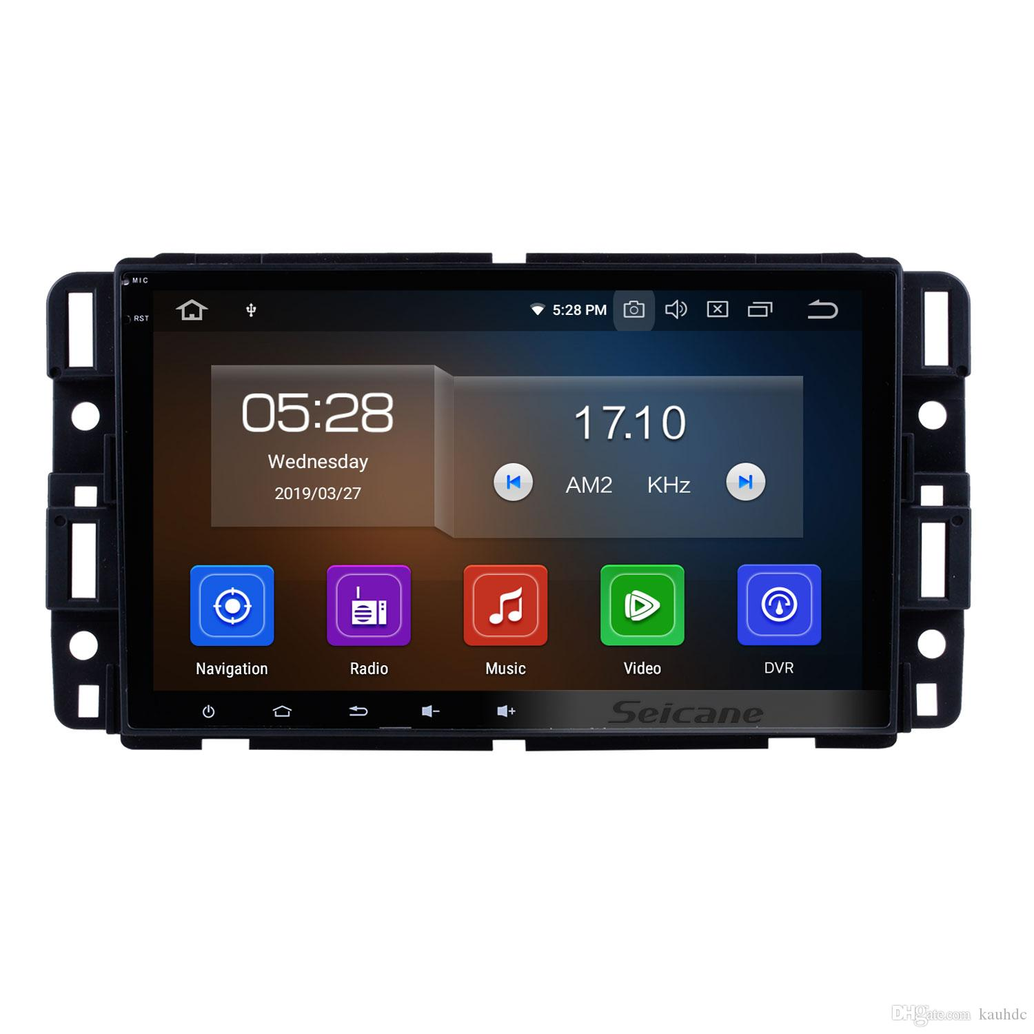 8 inch hd touchscreen android 9 0 car gps navigation system for 2007-2016  gmc canyon yukon terrain acadia with bluetooth support car dvd dvr
