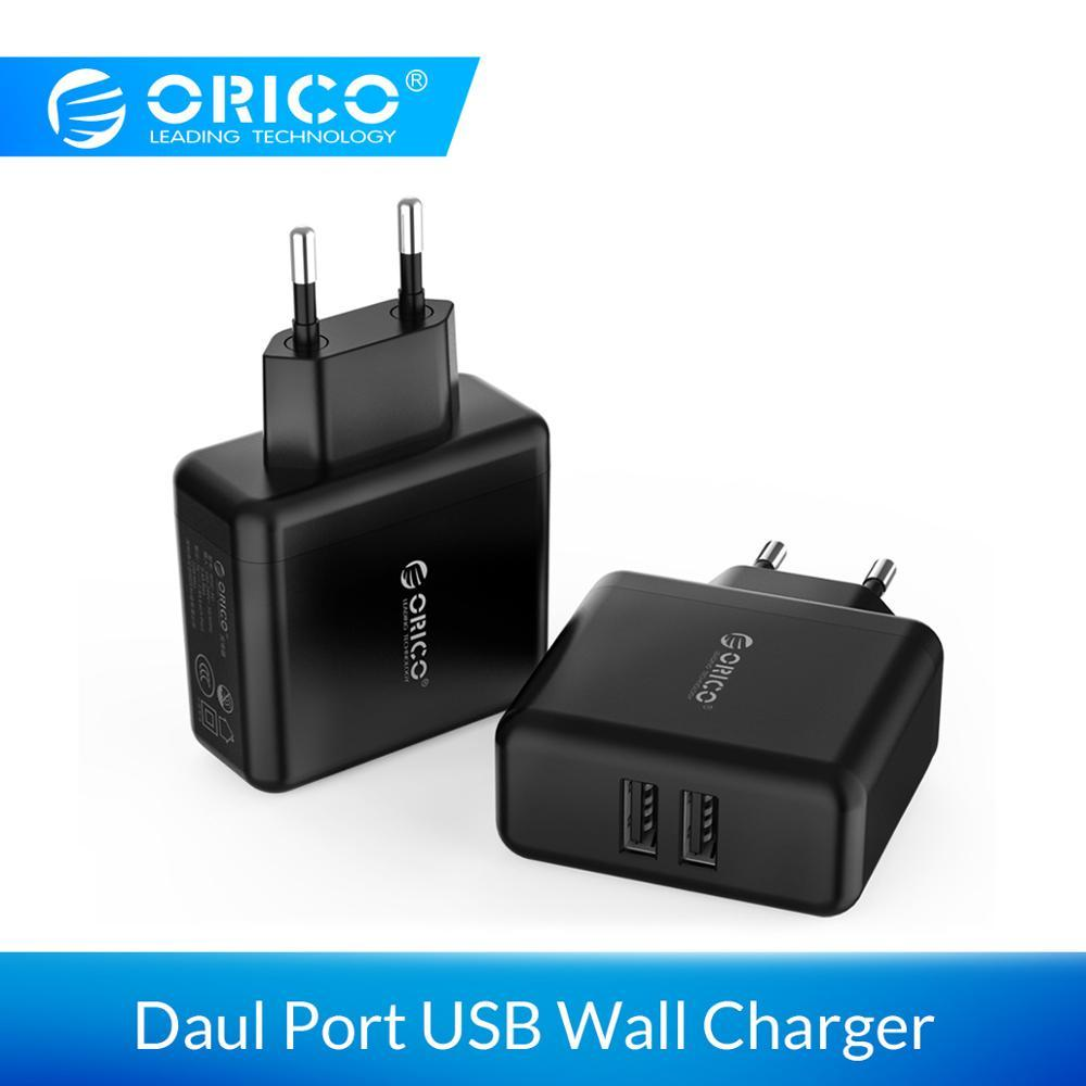 ORICO USB Portable Wall Charger Travel Charger Adapter With 2 Port 15W Max EU Plug for iPhone for iPhone Accessories Xiaomi