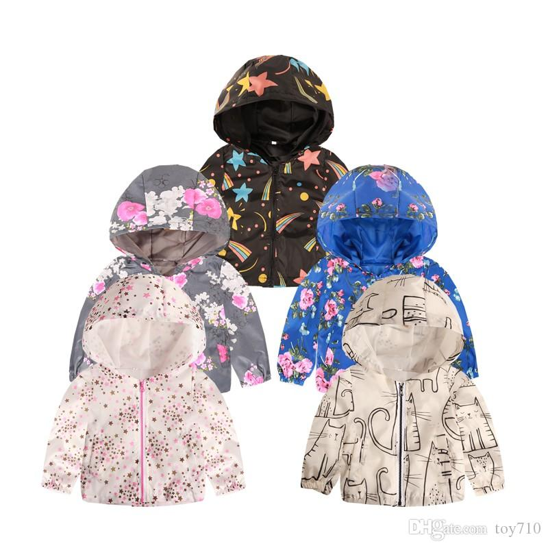 92f9fe32a New Kids Clothes Girls Jackets Children Hooded Windbreaker Infant  Waterproof Hoodies Toddler Baby Coat For Kids 2-7T
