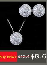 CWWZircons Top Quality Austríaco Luz Azul de Cristal Brinco de Argola Colar Anéis Mulheres Jóias Set 2018 Acessórios de Moda T100