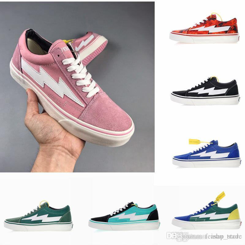 70b2003f0a 2018 Original Revenge X Storm Old Skool Canvas Designer Sneakers Womens Men  Low Cut Skateboard Pink Red Blue White Black Casual Shoes Old Skool Shoes  Men ...