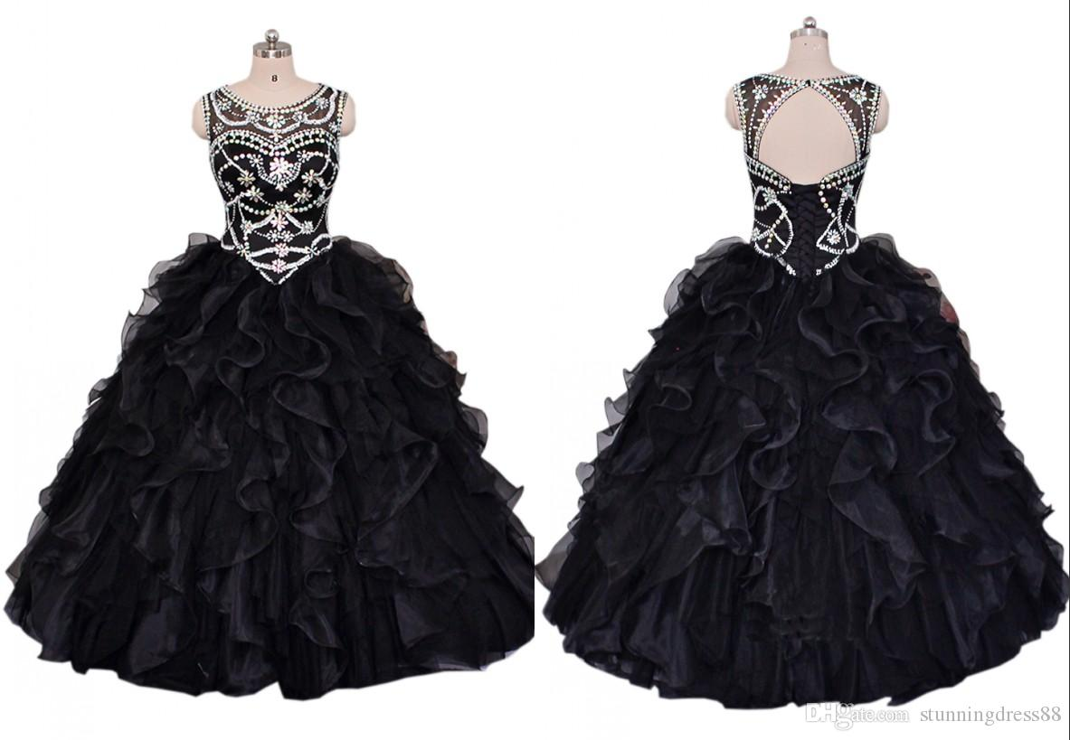 232f2d7780 Sexy Black Real Quinceanera Prom Dresses 2019 Sweet 16 Dress Cheap ...