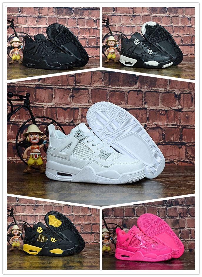 Basket Basketball Aj4 Air Hot Garçons Jeunes De Enfants 4 Et Sneakers Chaussures Sports Nike Filles 4s Jordan u3lFKJT1c