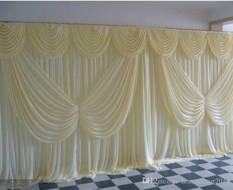 3MX6M white ice silk Wedding Backdrop Curtain Angle Wings Sequine drapes Wedding Decorations Background Scene birthday party wall decoration