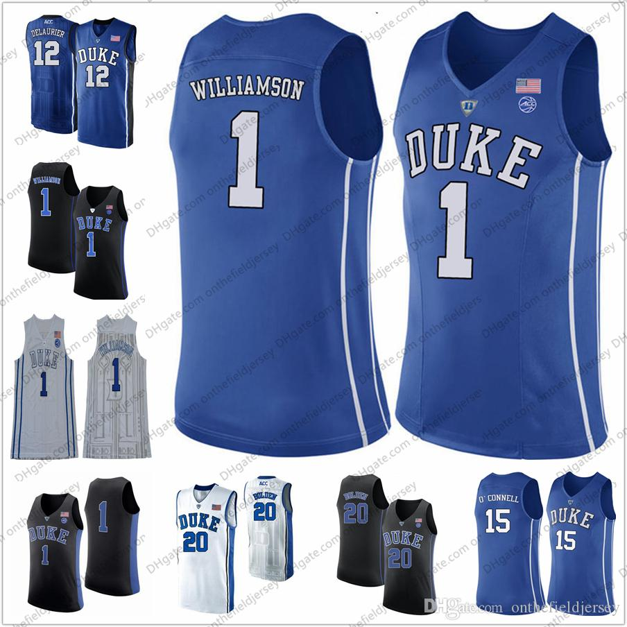 8b48a2f7bee 2019 NCAA Duke Blue Devils  1 Zion Williamson 12 Javin DeLaurier 13 Joey  Baker 14 Goldwire 20 Marques Bolden College Basketball Jersey S 3XL From ...