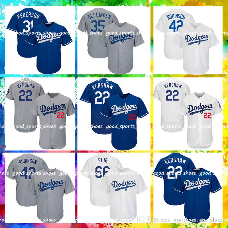 sale retailer d4941 a3309 Los Angeles Dodgers Jersey 22 Clayton Kershaw 10 Justin Turner 14 Enrique  Hernandez 31 Mike Piazza 42 Jackie Robinson