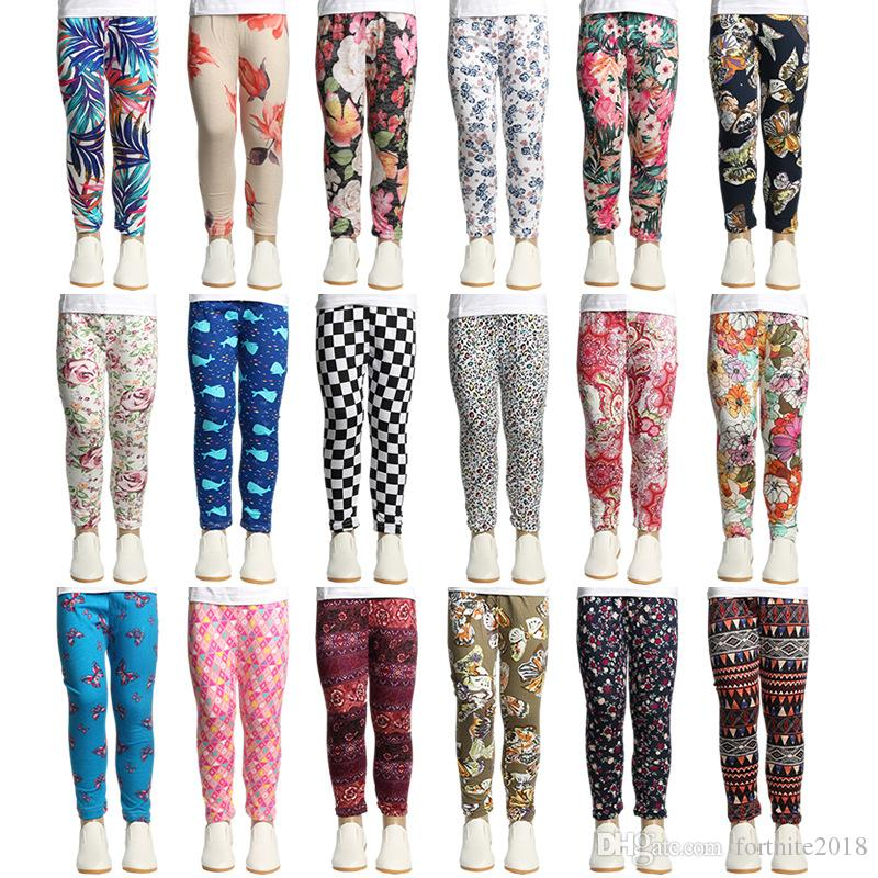 74317a9a12916b 2019 Girls Ankle Length Leggings Pants Girls Multicolor Printed Tights  Cotton Pants Children Christmas Trousers Kids Designer Clothing From  Fortnite2018, ...