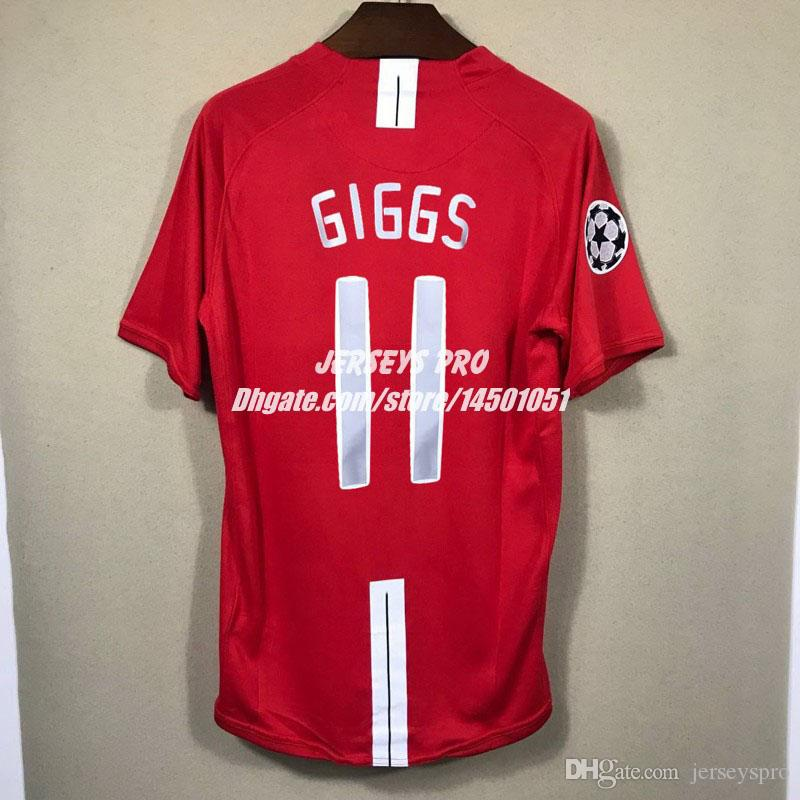 62479c246e7 ... discount code for 2019 ryan giggs old trafford 2007 2008 07 08 ucl  champions league final