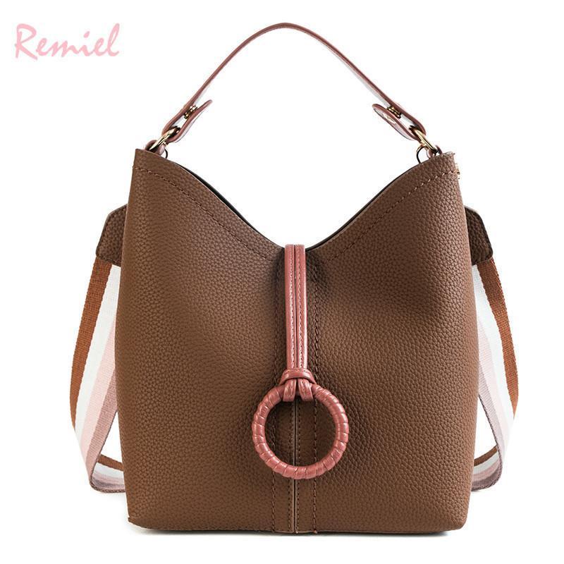 f2788b1fc928 2 Bags Retro Fashion Female Bucket Bag 2019 New Quality Pu Leather Women S  Designer Handbag Ladies Tote Shoulder Messenger Bags Wholesale Bags Over  The ...