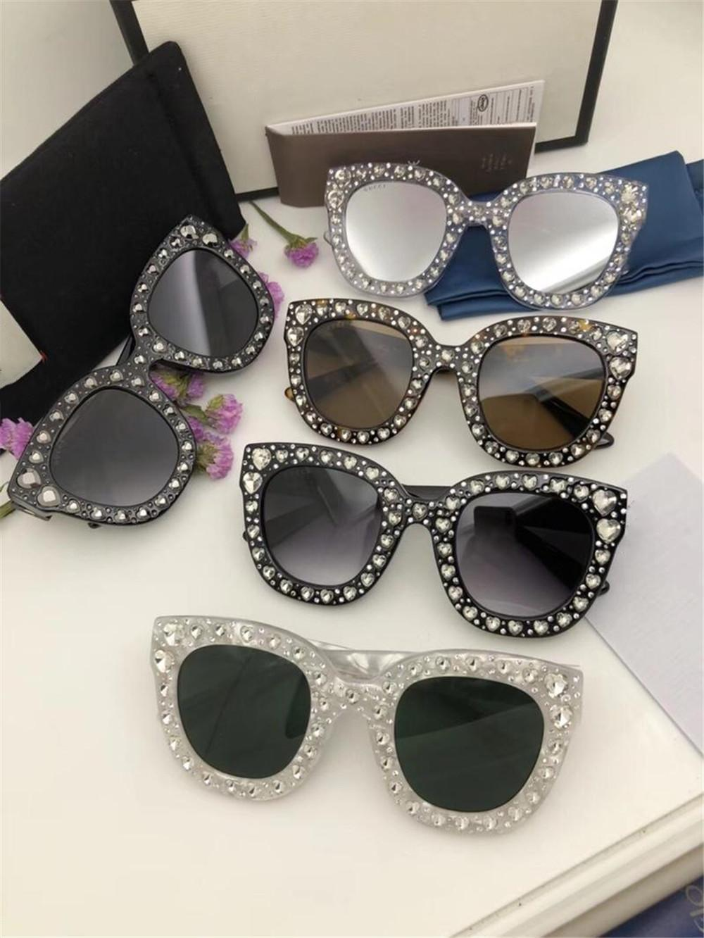d2960bf8d61 2019 Women Popular Sunglasses Luxury Italy Designer Cat Eye Glasses High  Quality UV Protection Love Heart Diamond Eyewear With Case And Box Glasses  Online ...