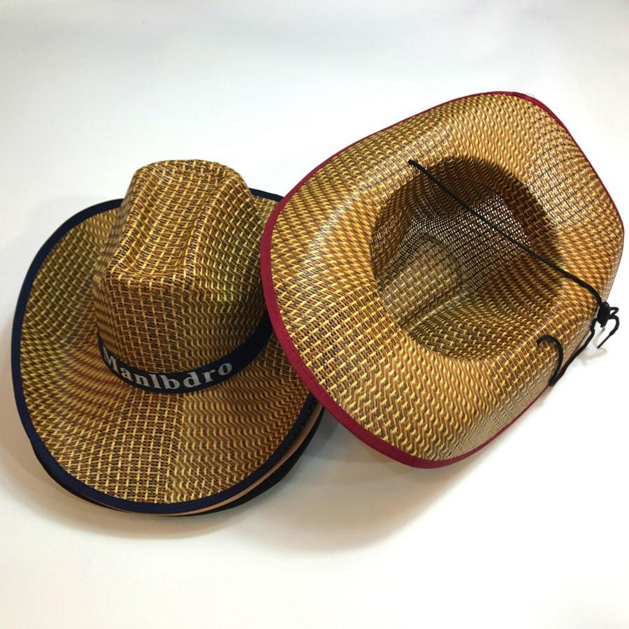 9fc6980b61d0f Women Cowboy Straw Sun Hat Men Summer Sun Hat Woven Straw Cowboy Hats  Travel Camping Beach Outdoor Cap Wide Brim Hats RRA409 Wedding Hats Baby  Hats From ...