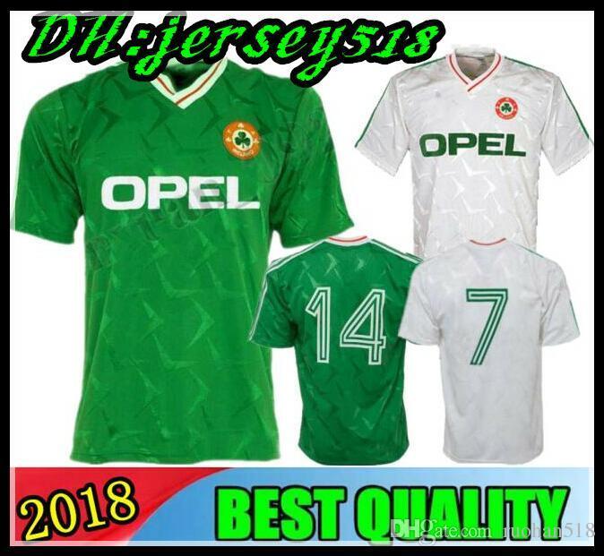 1424fdde8 2019 1990 1992 World Cup Ireland Retro Soccer Jersey 1990 Ireland Classic  Jersey Vintage Irish Sheedy Football Shirts From Ruohan518
