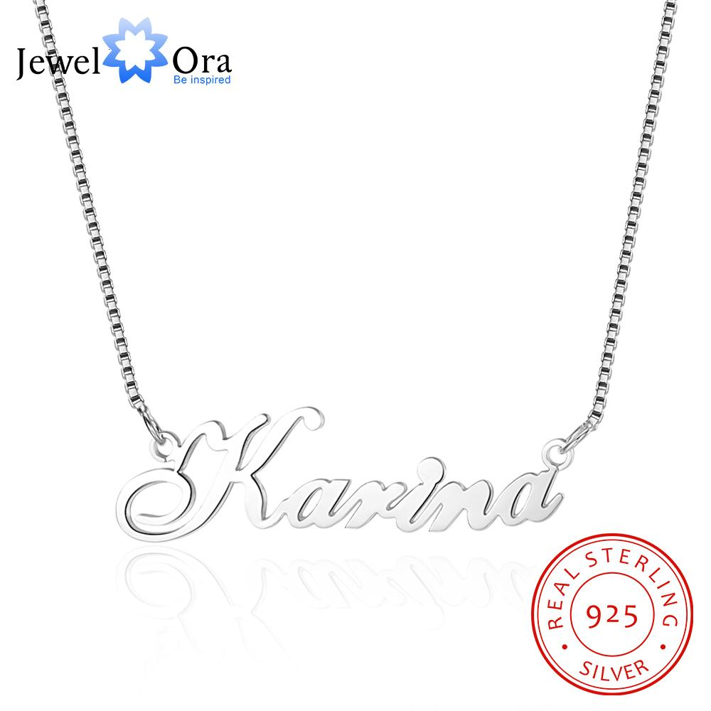 Silver Personalized Big Nameplate Pendant Necklace Henry