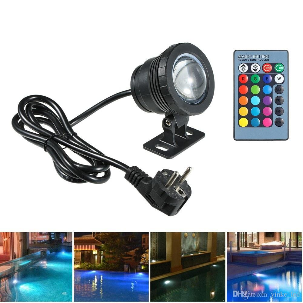 RGB LED Underwater Light Submersible Lamp Waterproof 16 Color Effects Lights for Swimming Pool Aquarium Pond Spray Fountain Halloween Christ
