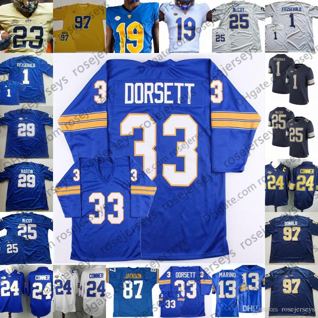the best attitude 212a4 6134a Pitt Pittsburgh Panthers #13 Dan Marino 25 Darrelle Revis 29 Curtis Martin  33 Tony Dorsett 89 Mike Ditka Royal Blue Vintage Football Jersey