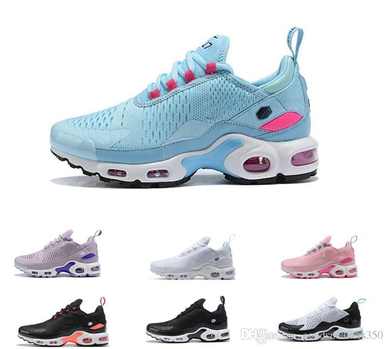 new arrival 7e33c 1d655 Acheter 2019 Top Air Nike Air Max Airmax Running Shoes TN Hommes Femmes Chaussures  De Plein Air Hommes Femmes 27c Noir Blanc Triple Maxes Chaussures De ...