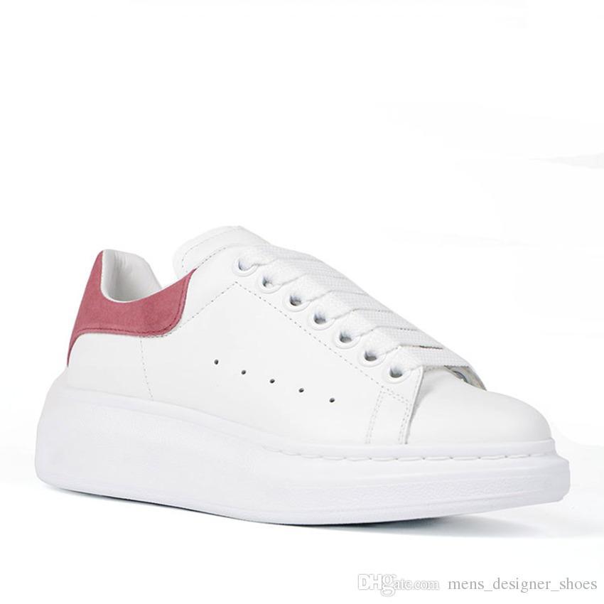 Alexander McQueen Designer de luxe reine semelle nouveau designer confort assez casual chaussures en cuir hommes femmes filles baskets taille 35 44