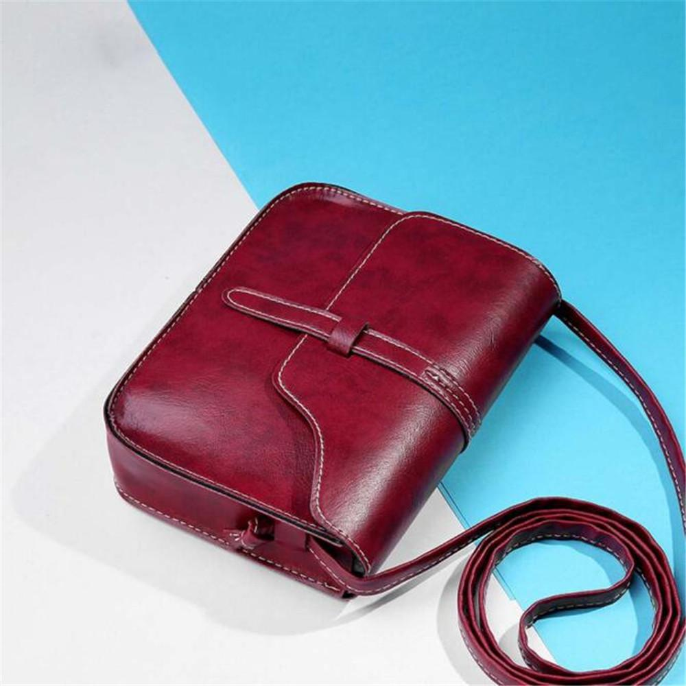 7f329762eb Cheap 2019 Casual Simple Design Personality Bags Fresh And Unique Ladies  Vintage Purse Body Leather Cross Body Shoulder Bag Handbags Messenger Bags  ...