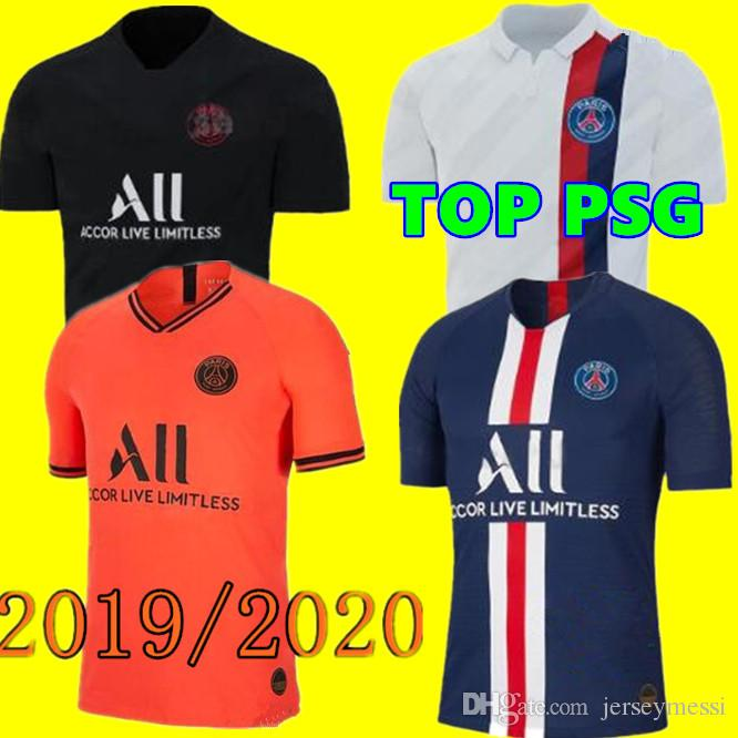 finest selection 91a2a 283e7 19 20 TOP PSG sports shirt MBAPPE football sweatshirt CAVANI VERRATTI  top2019 2020 Paris football jersey SILVA Camiseta de futbol