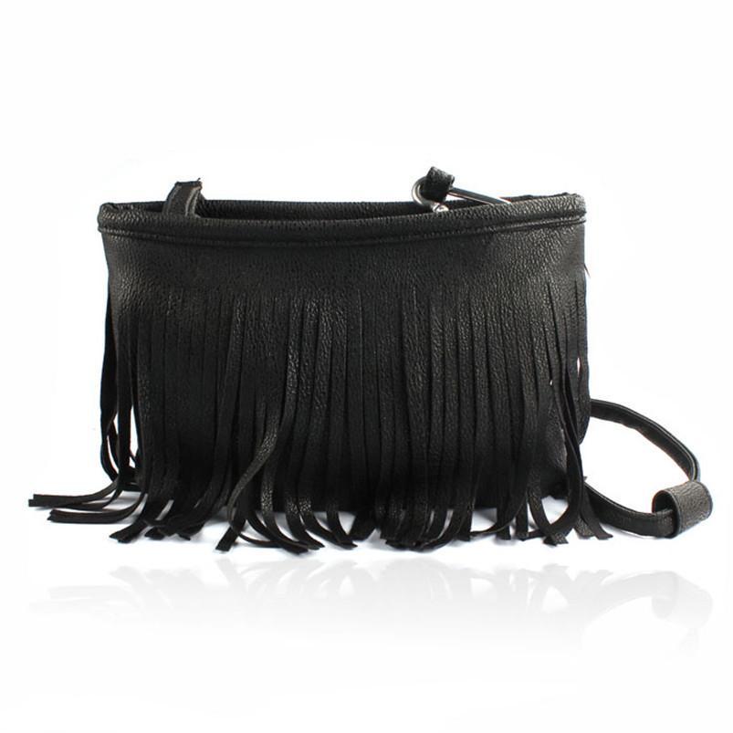Cheap Hot Women Tassel Shoulder Bag Clutch Baguette Handbags Leather Hobos  Package Messenger Cross Body Messegere Bag Drop Shipping  Y Mens Messenger  Bags ... ed2b37b9f7363