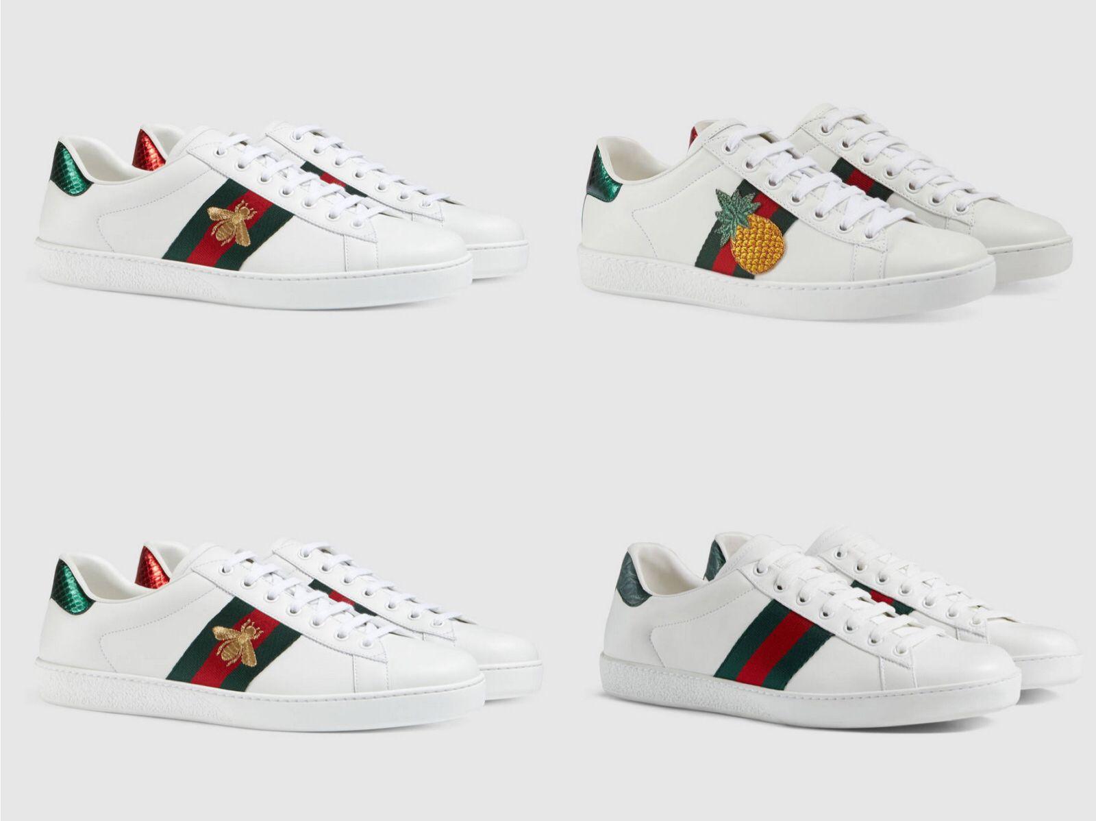 88e0c4d47e1dd6 Acquista ACE Sneakers Bee A Righe Ricamate Love Uomo Scarpe Da Donna  Original Luxury Brand Scarpe Casual In Vera Pelle Scarpe Da Ginnastica Di  Alta Qualità ...