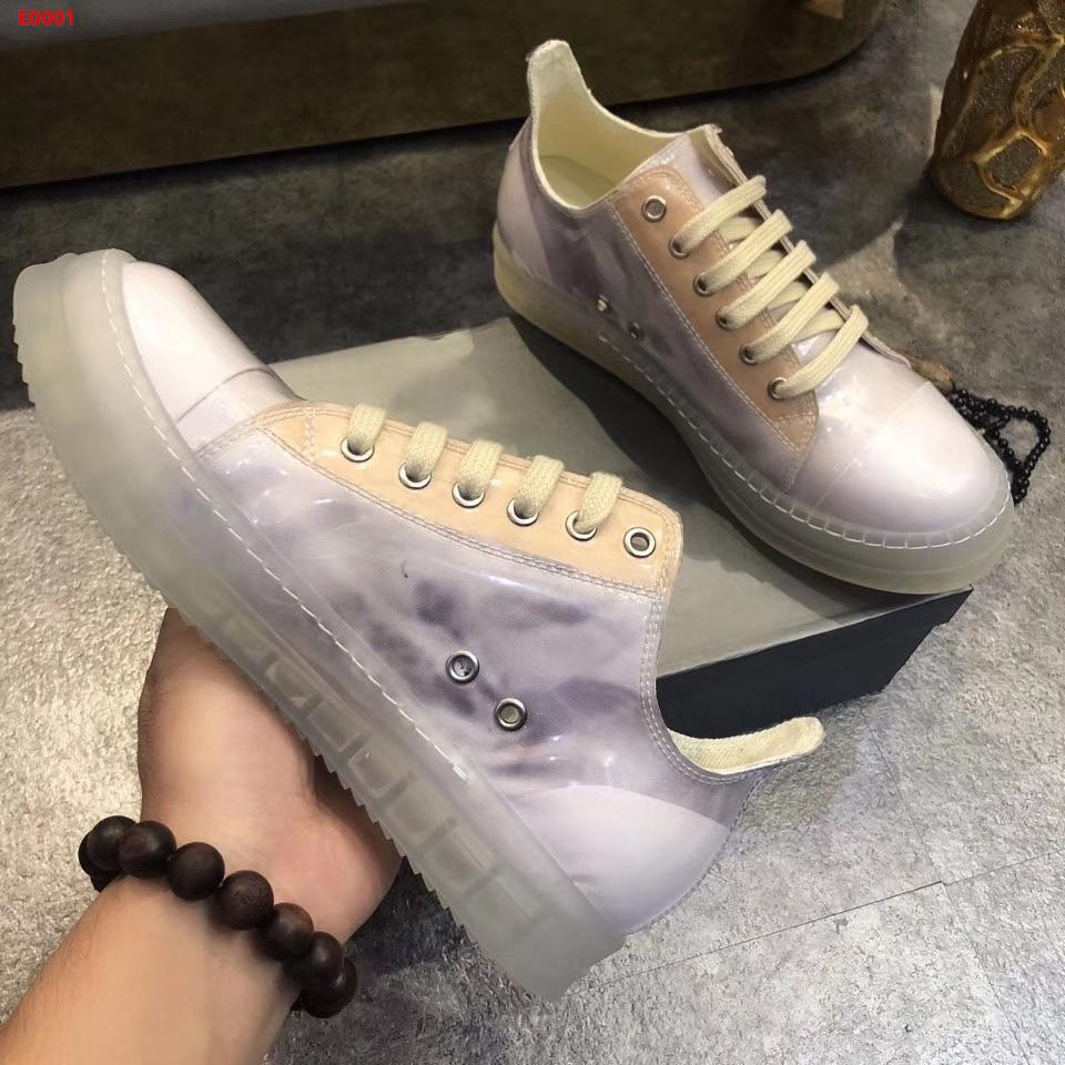 Crystal sole lovers shoes calfskin uppers comfortable breathable leather interior super comfortable transparent spice casual shoes